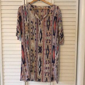 Tucker Aztec silk dress